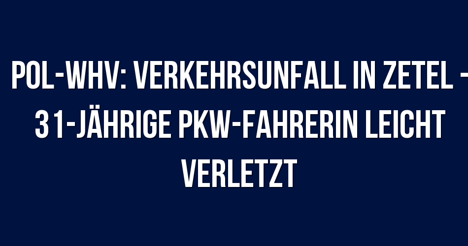 Polizeibericht Varel